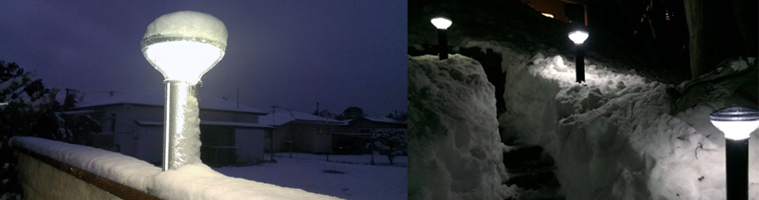 Solar Snow Covered Pathway Lights